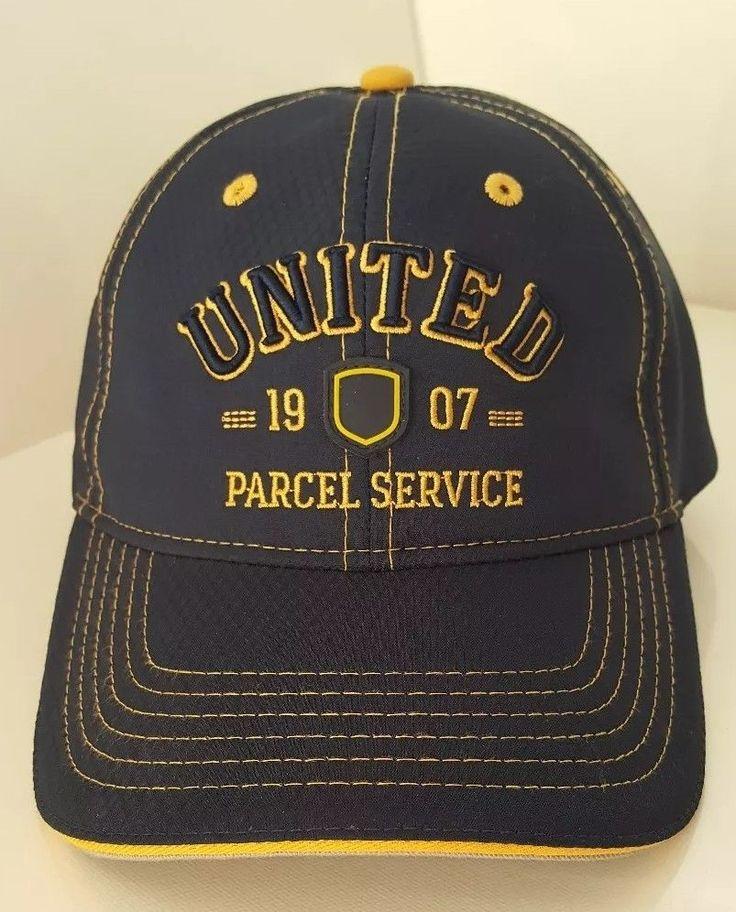 UPS United Parcel Service Baseball Cap Blue Yellow Gold Strapback Adjustable Hat #Unbranded #BaseballCap