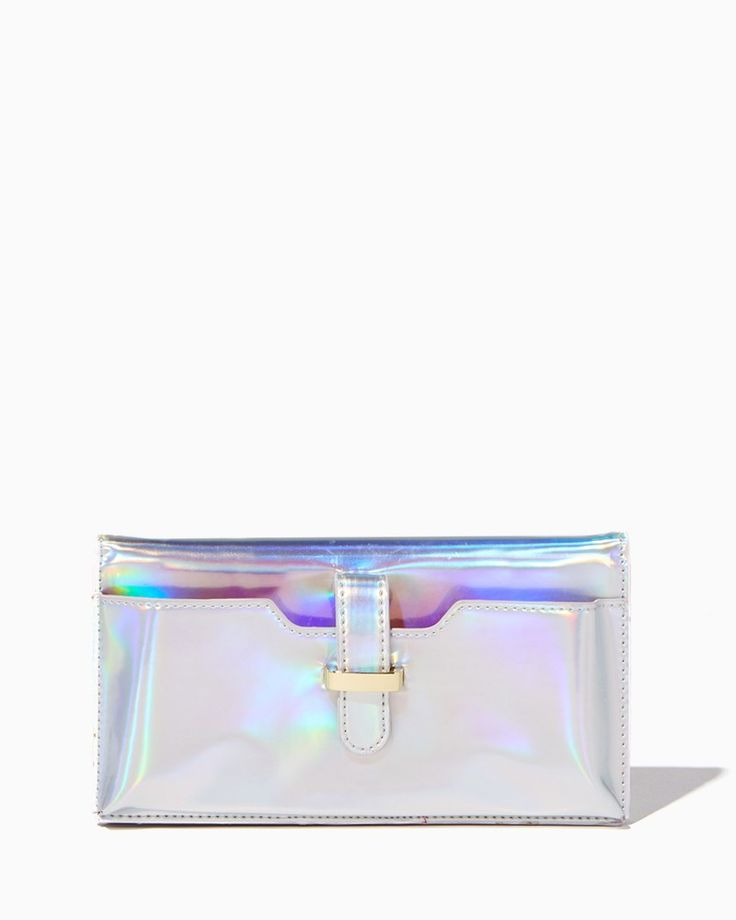 Holographic Tech Crossbody Wallet   Charming Charlie