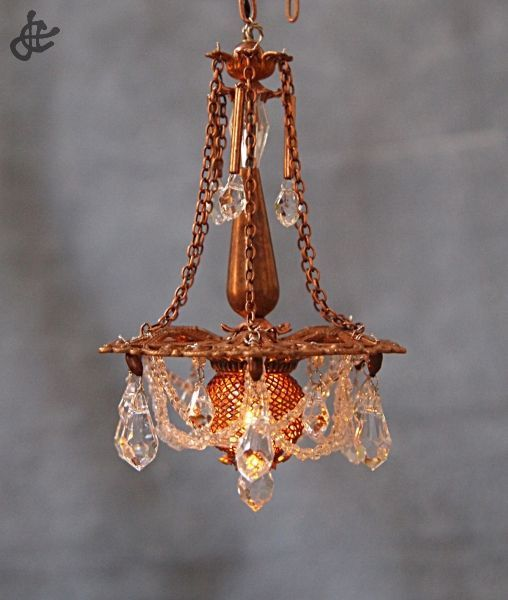 Beautiful handmade chandelier for a dollhouse