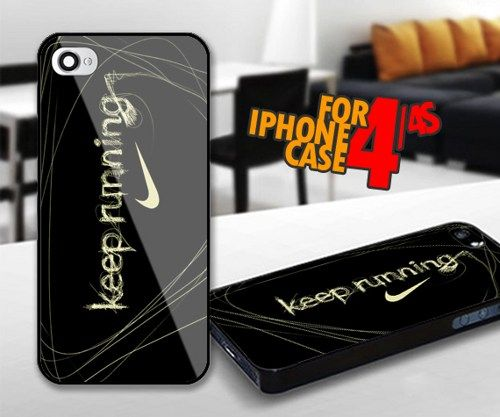 Nike Keep Running for iPhone 4 / 4s Black case | iPhoneCustomCase - Accessories on ArtFire