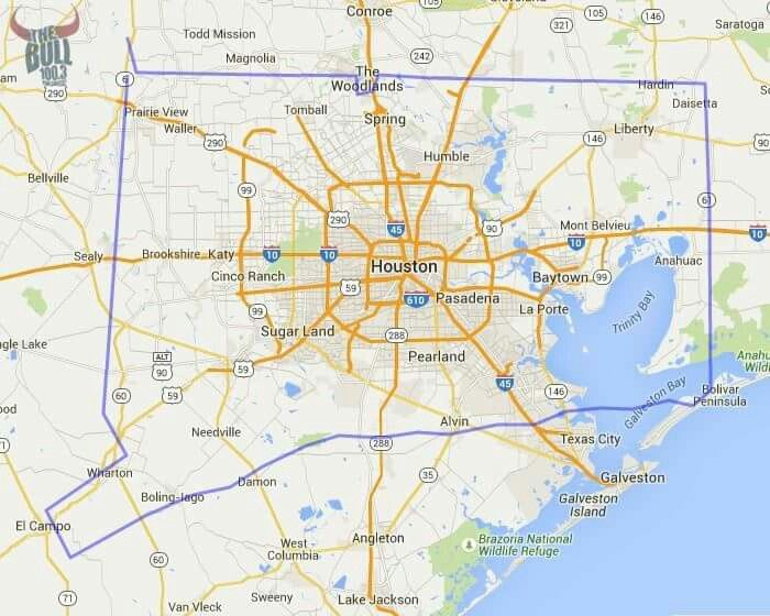 How Big Is Houston TX  The Blue Outline Is The Map Of