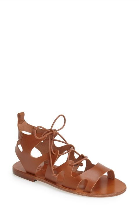 Gladiator sandals add instant Cali cool to a white linen dress or a pair of ripped denim shorts (see: Kendall Jenner). Shop the 20 best pairs, including these Topshop Fig Cutout Lace-up Gladiator Sandals.