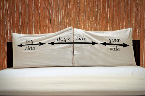 My Side Your Side Dogs Side His and Hers Couple by KIKIANO on Etsy