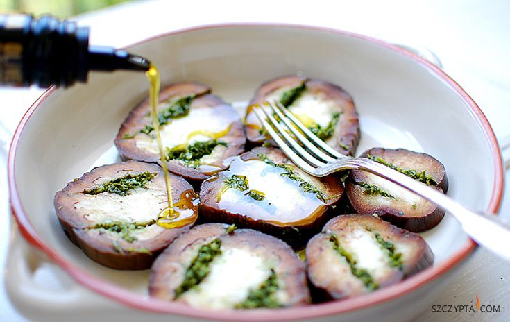 eggplant marinated with garlic and parsley