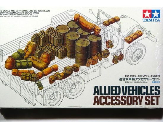 Maquette Tamiya 35229 Allied Vehicles Accessory Set.