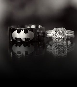 I wouldn't mind letting him get a Batman wedding band.