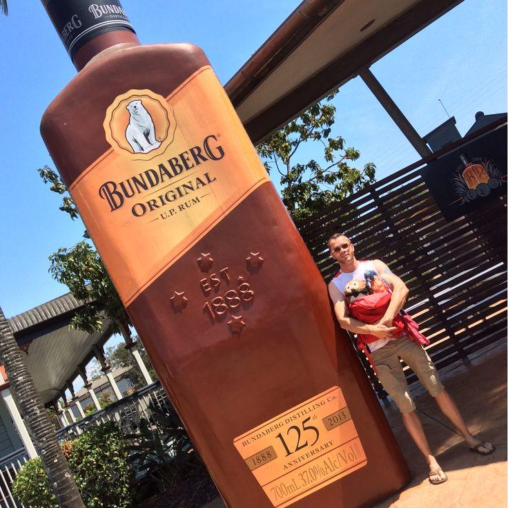 Big Bundaberg rum bottle #bigthingsforbraincancer