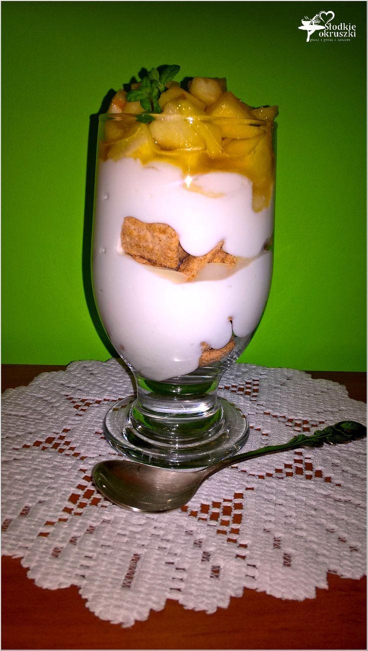 5 minutowy deser ze słodkim jabłuszkiem i Cynamonusiami