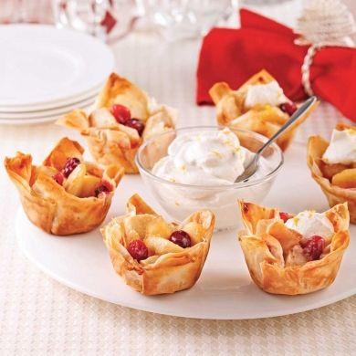 Bouchées aux pommes et pâte d'amandes - Desserts - Recettes 5-15 - Recettes express 5/15 - Pratico Pratiques