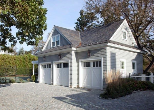 Top 60 Best Detached Garage Ideas Extra Storage Designs In 2020 Prefab Garage With Apartment Garage Design Garage Door Design