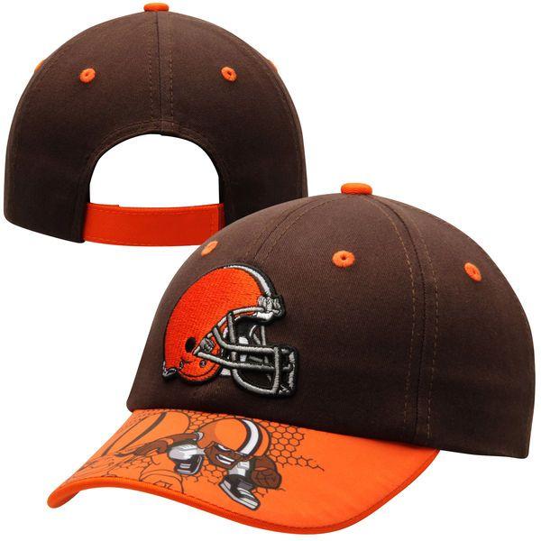 Cleveland Browns Historic Logo Toddler NFL Rush Zone Defense Engage Adjustable Hat - Black - $17.99