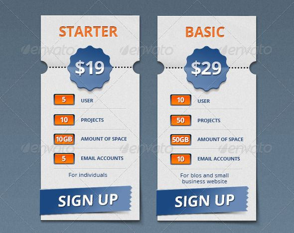 Pricing Table - #Tables Web Elements Download here: https://graphicriver.net/item/pricing-table/4453992?ref=alena994