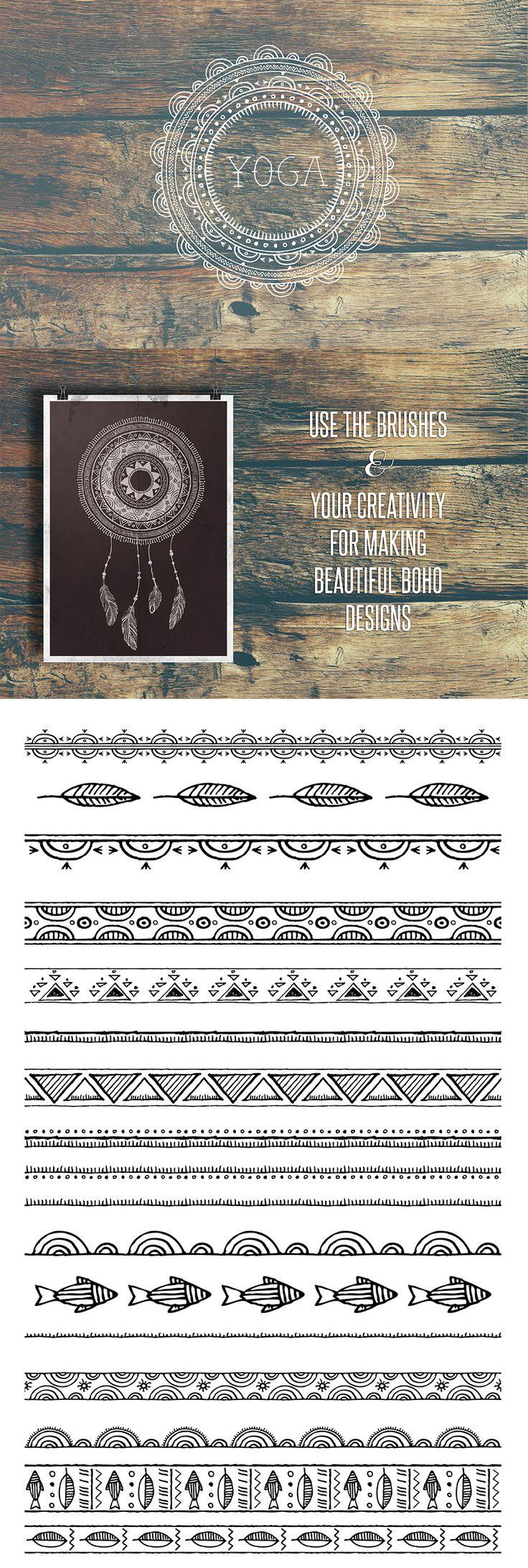 50 Boho Tribal Gypsy Brushes