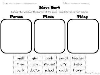 19 best Nouns and Verbs images on Pinterest | Language activities ...