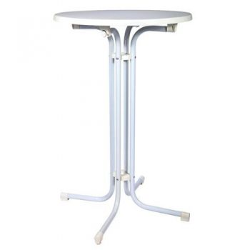 Exclusiver Bistro Stehtisch klappbar 1,1m hoch mit 70cm Tischplatte-Heimtextilien Shop für Bettwäsche, Bettdecken, Kopfkissen und Fleecedecken