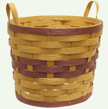 Amish Eco Friendly Two Handle Planter Basket Great for use indoors or out, these handmade baskets are made from recycled plastics.