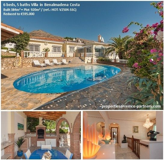 Villa for sale in Benalmadena Costa – ref.: HOT-V2504-SSC Built 384m² • 6 Beds • 5 Baths • Plot 920m²  Originally listed for €850.000, recently reduced to €595.000 to achieve a fast sale. More details: properties@remco-partners.com