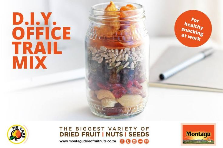 "You'll be the envy of all your colleagues with this delicious DIY office trail mix!  Healthy snacking at work has never been easier. Click here for some ""snackspiration"": http://bit.ly/2lBFnx7   #HealthyLifestyle 