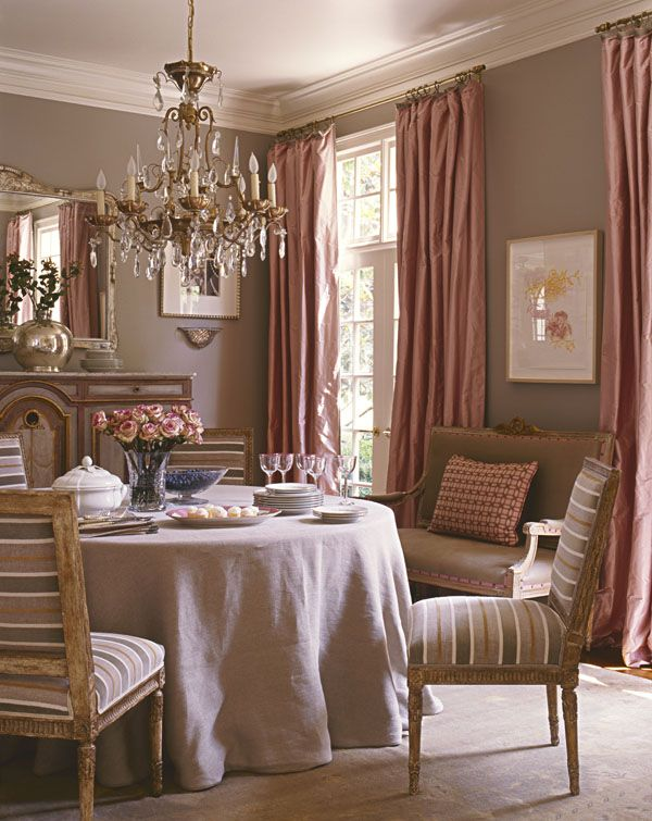 The Draperies Are Reversiblecant Believe What A Sophisticated Room This