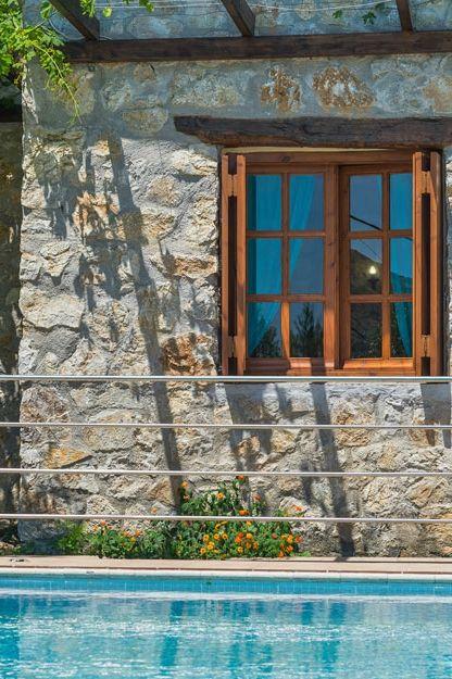 Feel like home in the traditionally stone-built Villa Talos in Paleochora, Crete! #villa #crete #traditional