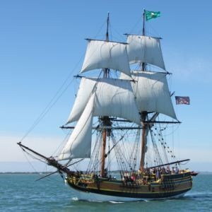 Lady Washington--real life inspiration for Jocelyn's ship, the Hook's Revenge.