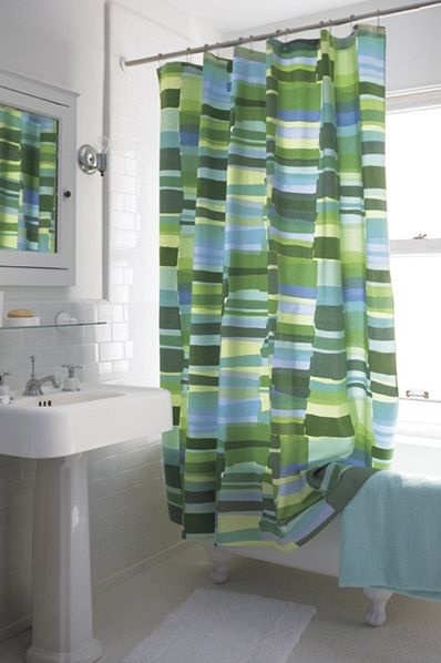 Thinking This Might Be The Shower Curtain To Go With For Hall Bath More Vibrant In Person Marimekko Tilkkula Seaglass Cu