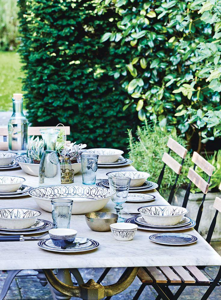 Sainsbury's Spring/ Summer 2015 Monochrome Outdoor Dining