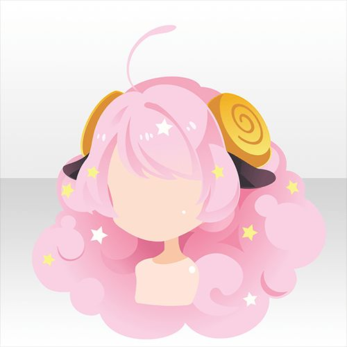Pink Anime Hairstyle | ~It's actually looks like a sheep >_<