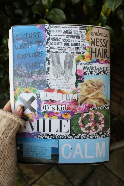 Collage journals. I have many of these :)