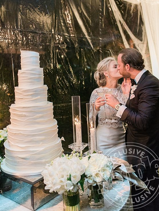 Click through for exclusive photos and details from Morgan Stewart's (a.k.a. Boobs and Loubs) wedding!