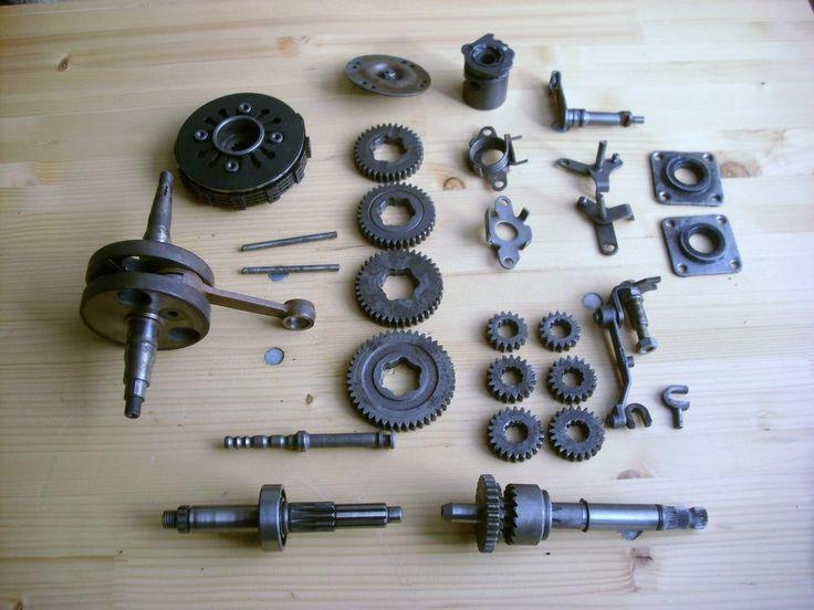 SIMSON S51 Getriebe Kupplung Kurbelwelle Kickstarterwelle Motor Teile www.topmai24.com