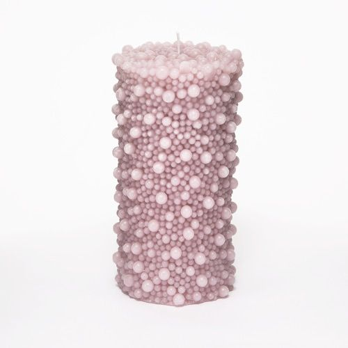 Dusty Pink Pearl Candle