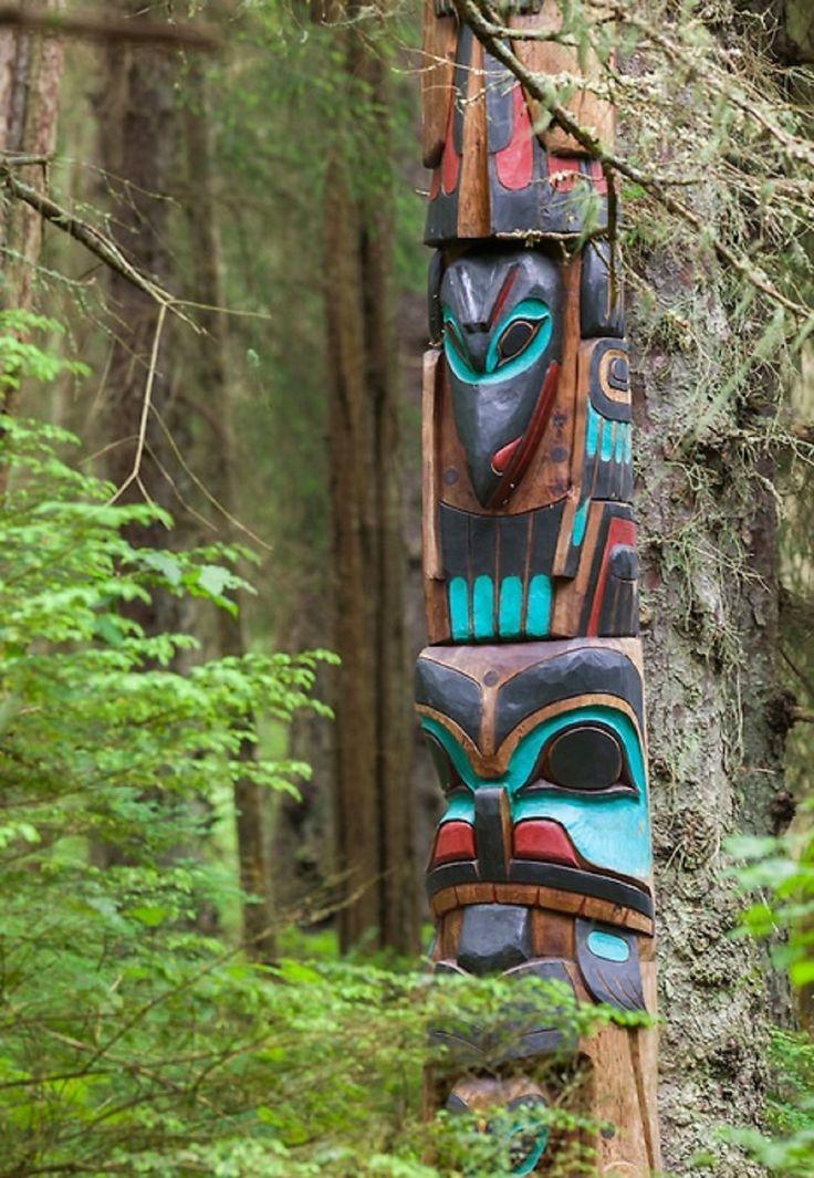 totem poles of haida indians Totem pole design totem pole stories  use of color totem gifts totem paper knives totem miniatures totem museum totem contest preserving totems  [ totem poles.