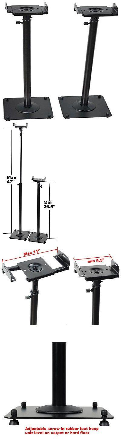 Speaker Mounts and Stands: Bookshelf Speaker Stands Adjustable Heavy Duty Floor Satellite Surround Sound -> BUY IT NOW ONLY: $54.8 on eBay!