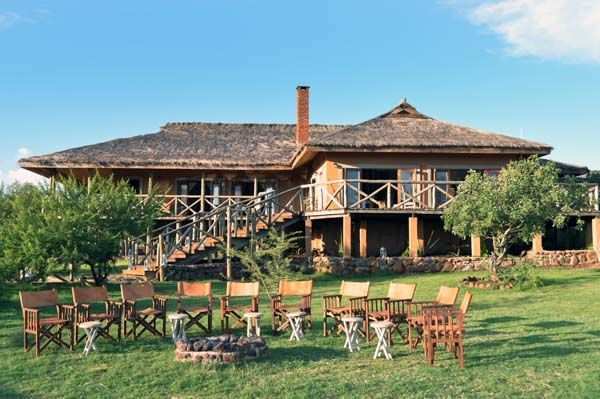 African safari accommodation Sanctuary Escarpment Lodge, just outside Lake Manyara, Tanzania.