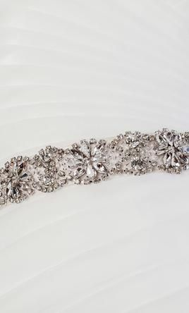 New (Un-Altered) Ivory Sash/Belt: buy this accessory for a fraction of the salon price on PreOwnedWeddingDresses.com