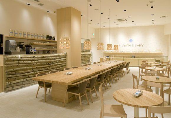 Helsinki Bakery interior - love the long table.