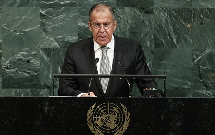 Speaking before the UN General Assembly, Russian Foreign Minister Sergey Lavrov observed that NATO's actions reignite decades-old tensions.