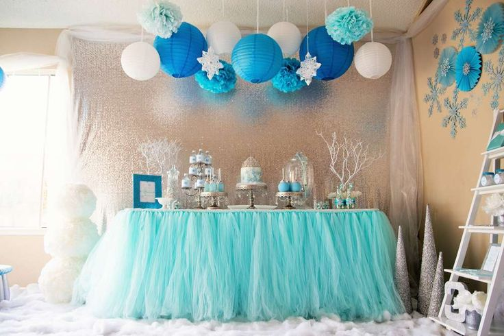 Amazing Frozen birthday party! See more party planning ideas at…