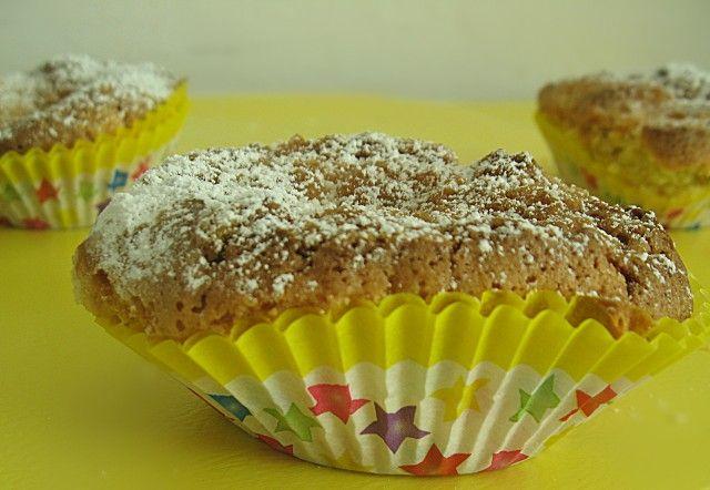 Muffin ai mirtilli rossi con streusel