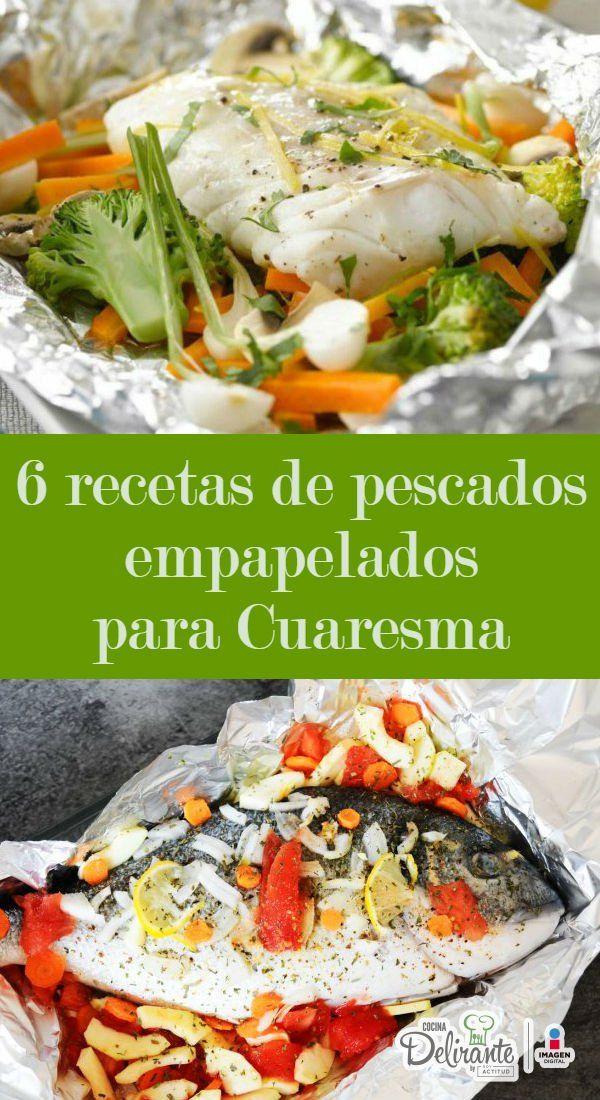 6 recetas de pescados empapelados para cuaresma