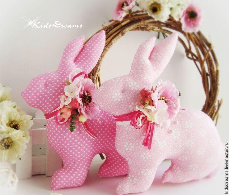 Купить Зайчики пасхальные розовые - розовый, нежность, нежный, Пасха, пасхальный сувенир, Праздник, кролик