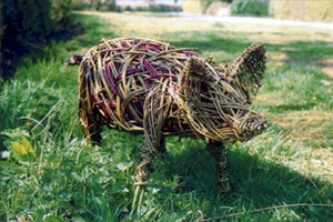 living willow sculpture. met Kim Creswell  at the green scythe fair today and have booked up on one of her workshops to make one of these cant wait