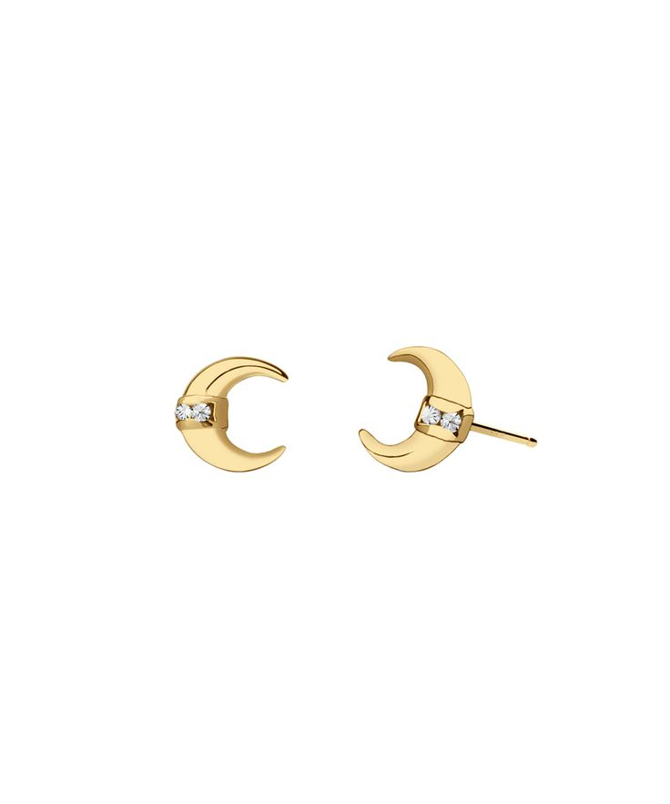 The 24:7 Collection is an edit of essential pieces for every woman's jewelry box. Thesetimeless staples can be worn from day to night, from power morning meeting to stylish happy hour.  18K gold vermeil horseshoe stud earringswith white topaz accents. Available as singles or a pair.