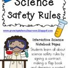 We create interactive science notebooks every year and they are definitely a work in progress!  These are one of the first entries in our science notebooks ~ Science Safety Rules!  $  FREE Science Safety Contract in the Preview File!