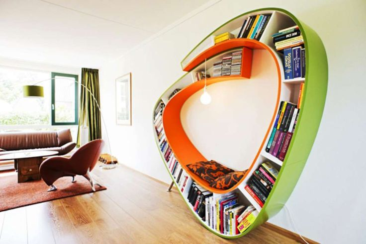 """BookWorm"", The Bookcase And Chaise Longue All In One - Architizer"