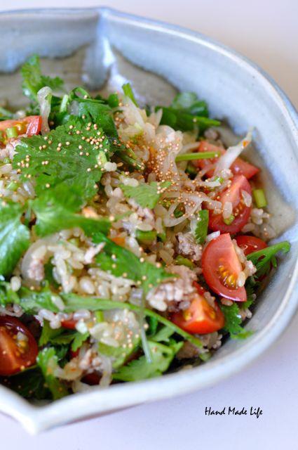 玄米とパクチーのサラダ