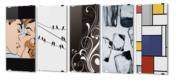 Glazen radiator voor de badkamer met print - Sole van Novellini