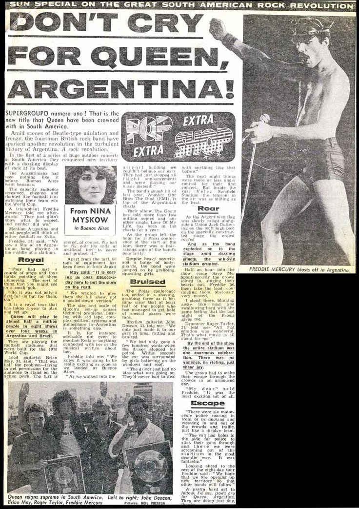 QUEEN EN ARGENTINA  1981