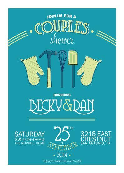 Couples Wedding Shower Invitation - Couples Kitchen by Elizabeth Victoria
